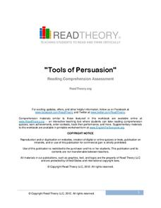 Tools of Persuasion Worksheet