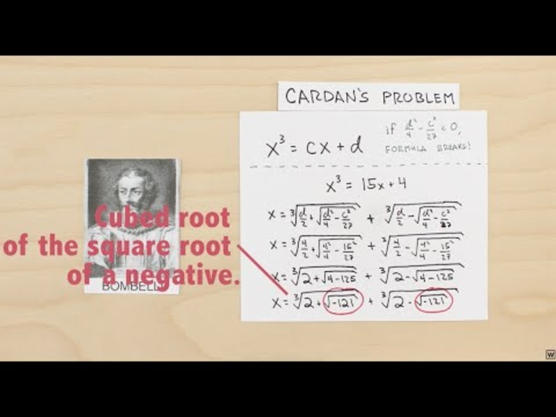 Imaginary Numbers Are Real (Part 3: Cardan's Problem) Video