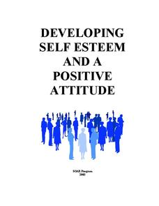 Developing Self Esteem and a Positive Attitude Worksheet
