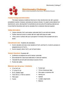 Stoichiometry Challenge Lesson Plan