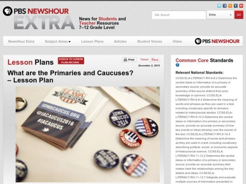 What Are the Primaries and Caucuses? Lesson Plan