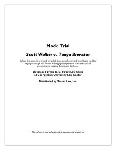 Mock Trial - Scott Walker v. Tanya Brewster Activities & Project