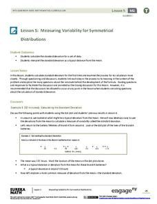Measuring Variability for Symmetrical Distributions Assessment