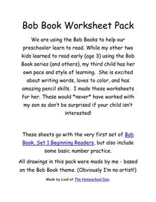 Bob Book Worksheet Pack Worksheet