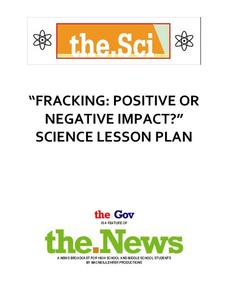 Fracking: Positive or Negative Impact? Lesson Plan