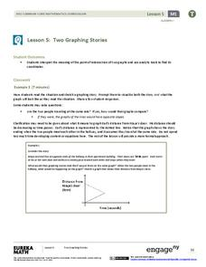 Two Graphing Stories Lesson Plan
