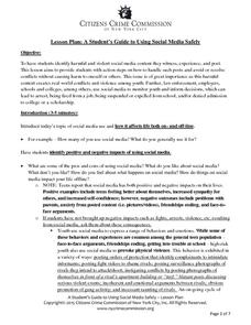 A Student's Guide to Using Social Media Safely Lesson Plan