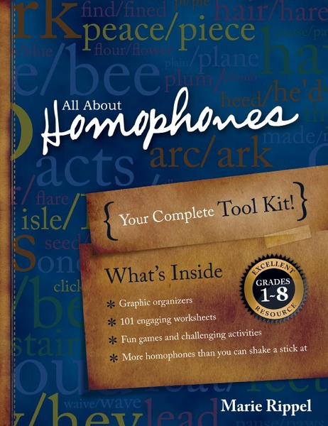 All About Homophones Worksheet