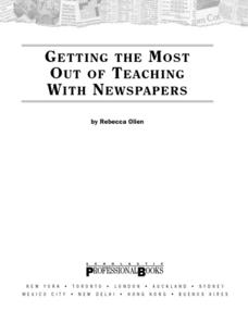 Getting the Most out of Teaching with Newspapers Lesson Plan