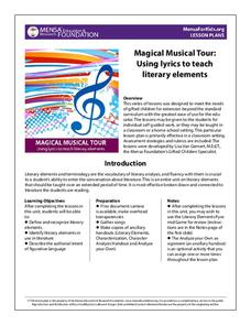 Magical Musical Tour: Using Lyrics to Teach Literary Elements Handouts & Reference