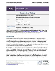 Grades 9-10 Writing Module, Unit 2: Informative Writing Unit