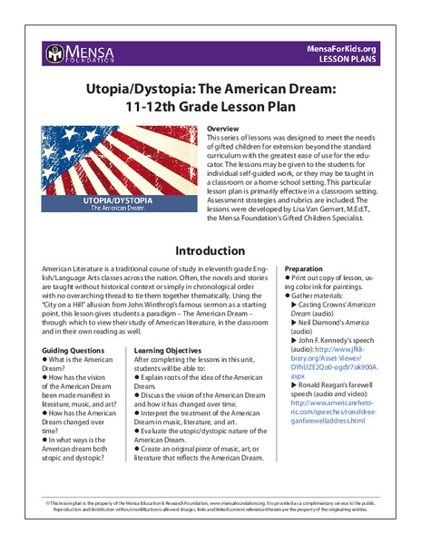 dystopia lesson plans worksheets reviewed by teachers utopia dystopia the american dream