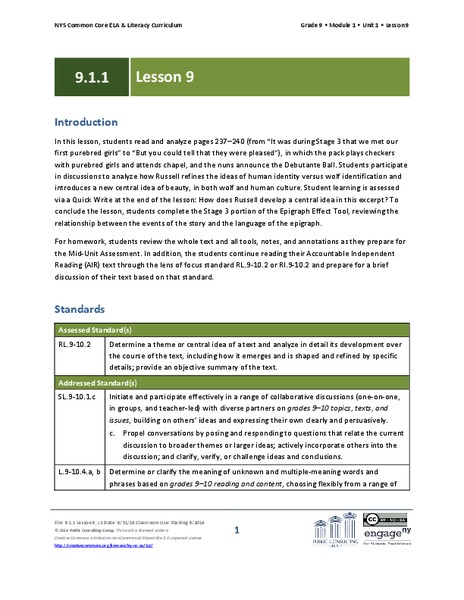 literary analysis the lesson  essay essay sample   july      how to write a literary analysis a literary analysis is the process where  you read a