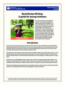 Book Review Writing: a Guide for Young Reviewers Lesson Plan