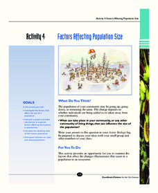 Factors Affecting Population Size Activities & Project