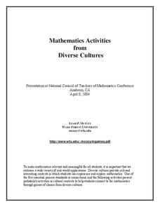 Mathematics Activities from Diverse Cultures Activities & Project
