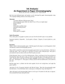 Ink Analysis: An Experiment in Paper Chromatography Lesson Plan