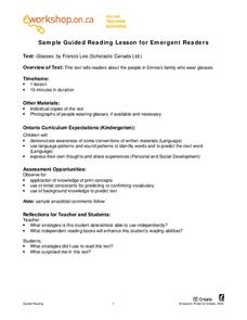 Sample Guided Reading Lesson for Emergent Readers Lesson Plan