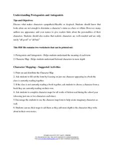 Understanding Protagonists and Antagonists Worksheet