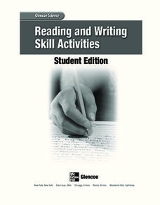 Reading and Writing Skills Activities Activities & Project