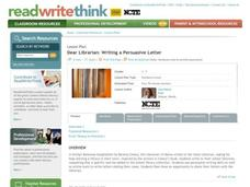 Dear Librarian: Writing a Persuasive Letter Interactive