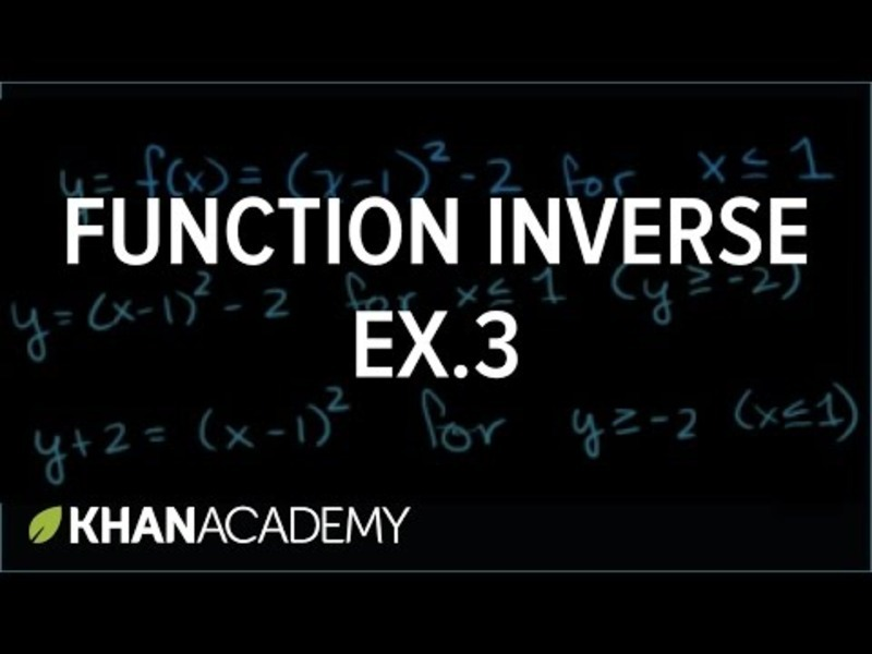 Function Inverses 3 Video
