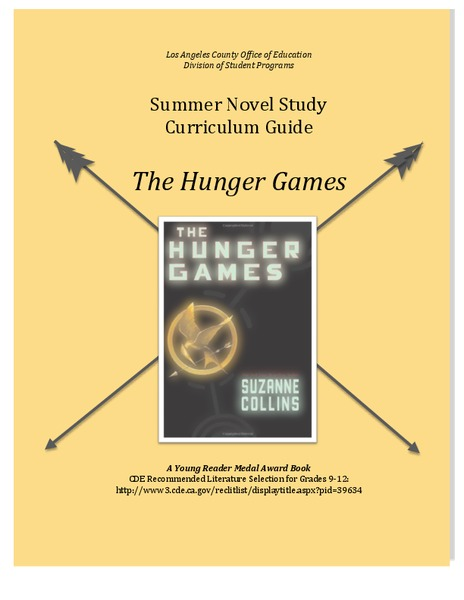 Summer Novel Study Curriculum Guide - The Hunger Games Unit
