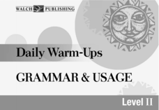 Daily Warm-Ups: Grammar and Usage Printables & Template