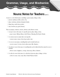 Grammar, Usage, and Mechanics Worksheet