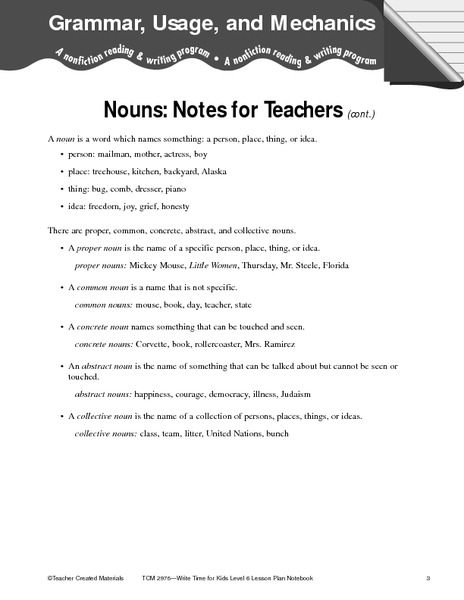 Grammar Usage And Mechanics Writing Prompt For 5th 6th