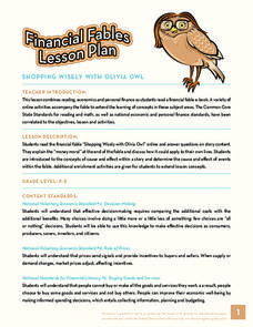 Financial Fables: Shopping Wisely with Olivia Owl Handouts & Reference