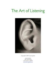 The Art of Listening Lesson Plan