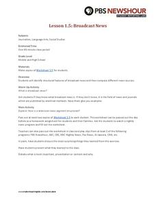 Broadcast News Lesson Plan