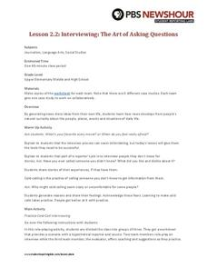Interviewing: The Art of Asking Questions Lesson Plan