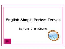 English Simple Perfect Tenses Presentation