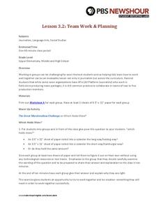 Team Work and Planning Lesson Plan