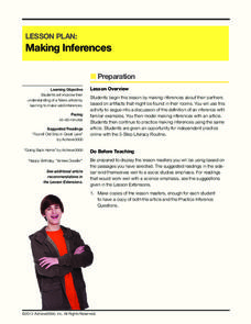 Lesson Plan: Making Inferences Lesson Plan