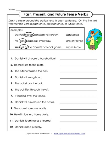 Past Present And Future Tenses Lesson Plans & Worksheets - 464x600 ...