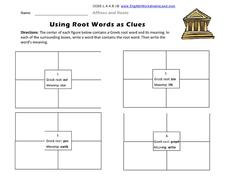 Using Root Words as Clues Graphic Organizer