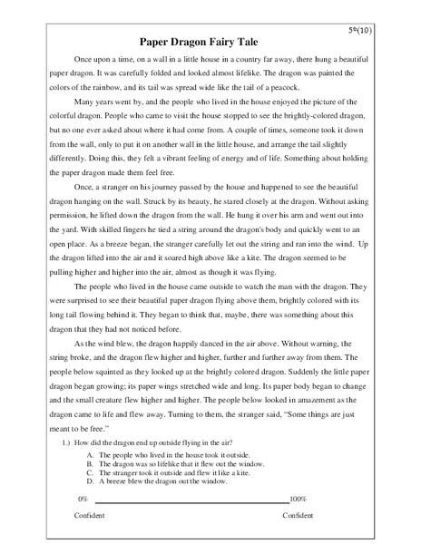 paper dragon fairy tale worksheet for 5th grade lesson planet. Black Bedroom Furniture Sets. Home Design Ideas
