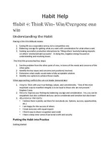 Think Win-Win: Everyone Can Win Activities & Project