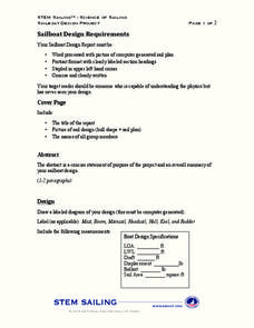 Sailboat Design Requirements Lesson Plan