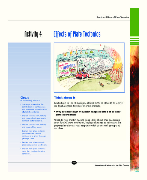 Effects of Plate Tectonics Activities & Project