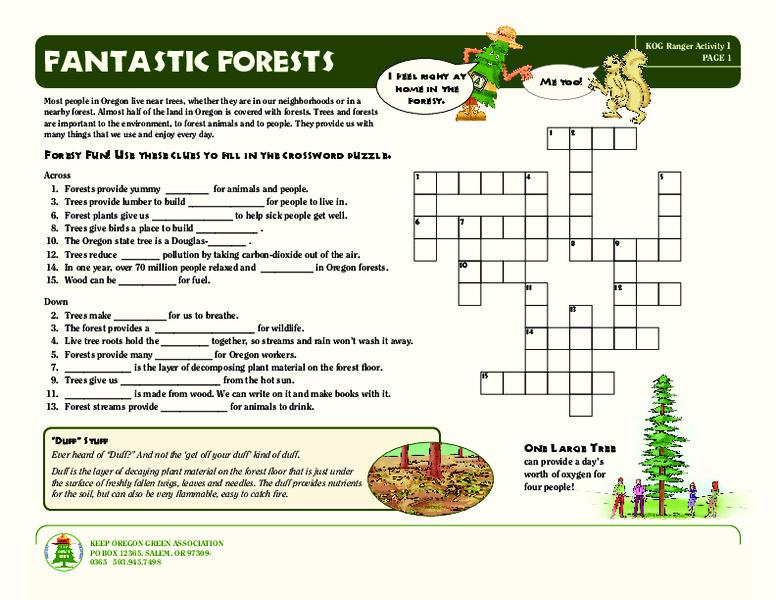 Fantastic Forests Worksheet For 3rd 7th Grade Lesson Planet