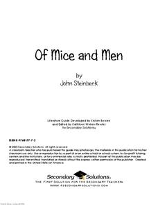 Of Mice and Men: A Literature Guide Graphic Organizer