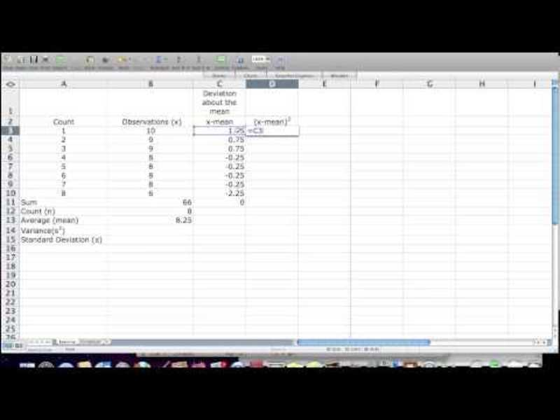 How to Calculate Standard Deviation, Mean, Variance Statistics, Excel Video