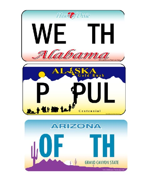photograph about Preamble Printable named Bulletin Discussion boards: License Plate Preamble Printables