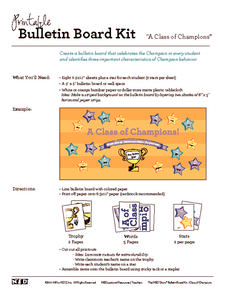 Bulletin Board Kit: A Class of Champions Printables & Template