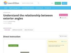 Understand the Relationship Between Exterior Angles Video