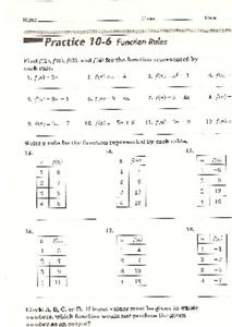 Function Rules Worksheet